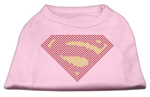 Super! Rhinestone Shirts Light Pink L (14)