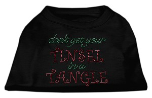 Tinsel in a Tangle Rhinestone Dog Shirt Black XXL (18)