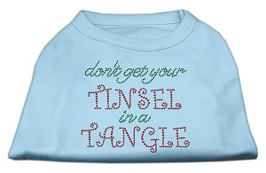 Tinsel in a Tangle Rhinestone Dog Shirt Baby Blue XS (8)