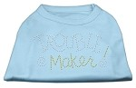 Trouble Maker Rhinestone Shirts Baby Blue S (10)