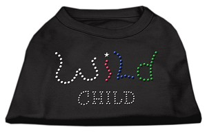 Wild Child Rhinestone Shirts Black XXXL(20)