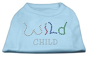 Wild Child Rhinestone Shirts Baby Blue M (12)