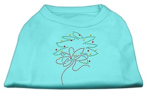 Christmas Wreath Rhinestone Shirt Aqua XXXL(20)