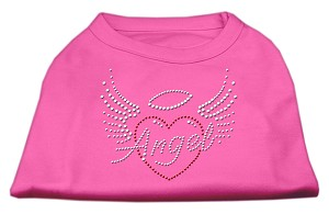 Angel Heart Rhinestone Dog Shirt Bright Pink Med (12)