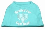 Spoiled for 8 Days Screenprint Dog Shirt Aqua XS