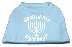 Spoiled for 8 Days Screenprint Dog Shirt Baby Blue XS