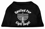 Spoiled for 8 Days Screenprint Dog Shirt Black XS