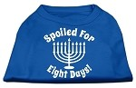 Spoiled for 8 Days Screenprint Dog Shirt Blue XS