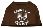 Spoiled for 8 Days Screenprint Dog Shirt Brown XS