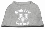 Spoiled for 8 Days Screenprint Dog Shirt Grey XS