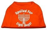 Spoiled for 8 Days Screenprint Dog Shirt Orange XS