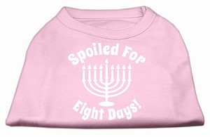 Spoiled for 8 Days Screenprint Dog Shirt Light Pink Med (12)