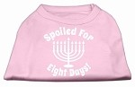 Spoiled for 8 Days Screenprint Dog Shirt Light Pink XS