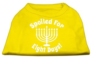Spoiled for 8 Days Screenprint Dog Shirt Yellow XXXL (20)