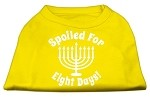 Spoiled for 8 Days Screenprint Dog Shirt Yellow XS