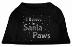 Screenprint Santa Paws Pet Shirt Black XS (8)