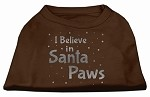 Screenprint Santa Paws Pet Shirt Brown XS (8)