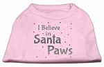 Screenprint Santa Paws Pet Shirt Light Pink XS (8)