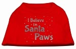 Screenprint Santa Paws Pet Shirt Red XS (8)
