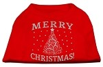 Shimmer Christmas Tree Pet Shirt Red XS (8)