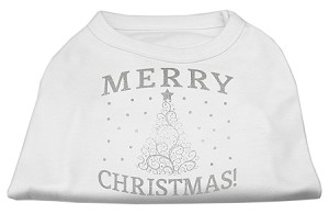 Shimmer Christmas Tree Pet Shirt White Sm (10)