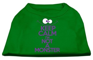 Keep Calm Screen Print Dog Shirt Green XXL (18)