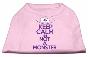Keep Calm Screen Print Dog Shirt Light Pink Lg (14)