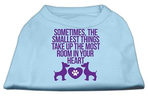 Smallest Things Screen Print Dog Shirt Baby Blue XXL