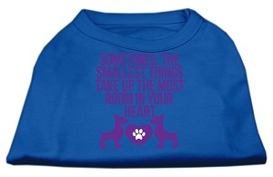 Smallest Things Screen Print Dog Shirt Blue XS (8)