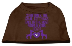 Smallest Things Screen Print Dog Shirt Brown Med