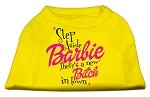 New Bitch in Town Screen Print Dog Shirt Yellow XS (8)