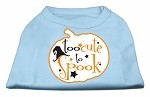 Too Cute to Spook Screen Print Dog Shirt Baby Blue XS