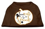 Too Cute to Spook Screen Print Dog Shirt Brown XS