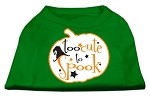 Too Cute to Spook Screen Print Dog Shirt Green XS