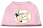 Too Cute to Spook Screen Print Dog Shirt Light Pink XS