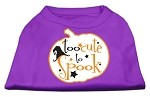 Too Cute to Spook Screen Print Dog Shirt Purple XS