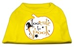 Too Cute to Spook Screen Print Dog Shirt Yellow XS
