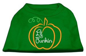 Lil Punkin Screen Print Dog Shirt Green XS (8)