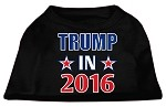Trump in 2016 Election Screenprint Shirts Black XS (8)