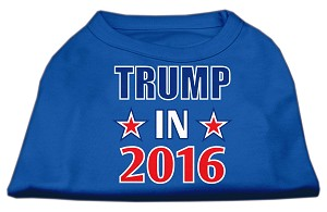 Trump in 2016 Election Screenprint Shirts Blue XXL (18)