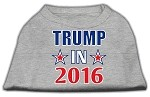 Trump in 2016 Election Screenprint Shirts Grey XS (8)