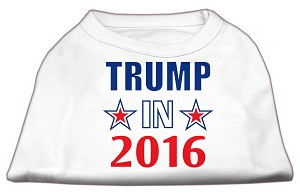 Trump in 2016 Election Screenprint Shirts White Lg (14)