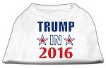 Trump in 2016 Election Screenprint Shirts White XS (8)