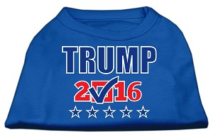 Trump Checkbox Election Screenprint Shirts Blue Med