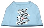 Well Bless Your Heart Screen Print Dog Shirt Baby Blue XS (8)