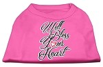 Well Bless Your Heart Screen Print Dog Shirt Bright Pink XS (8)