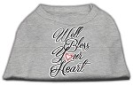 Well Bless Your Heart Screen Print Dog Shirt Grey Med (12)