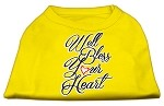 Well Bless Your Heart Screen Print Dog Shirt Yellow Med (12)