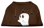 Sammy the Ghost Screen Print Dog Shirt Brown XS (8)