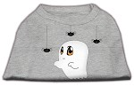 Sammy the Ghost Screen Print Dog Shirt Grey Med (12)